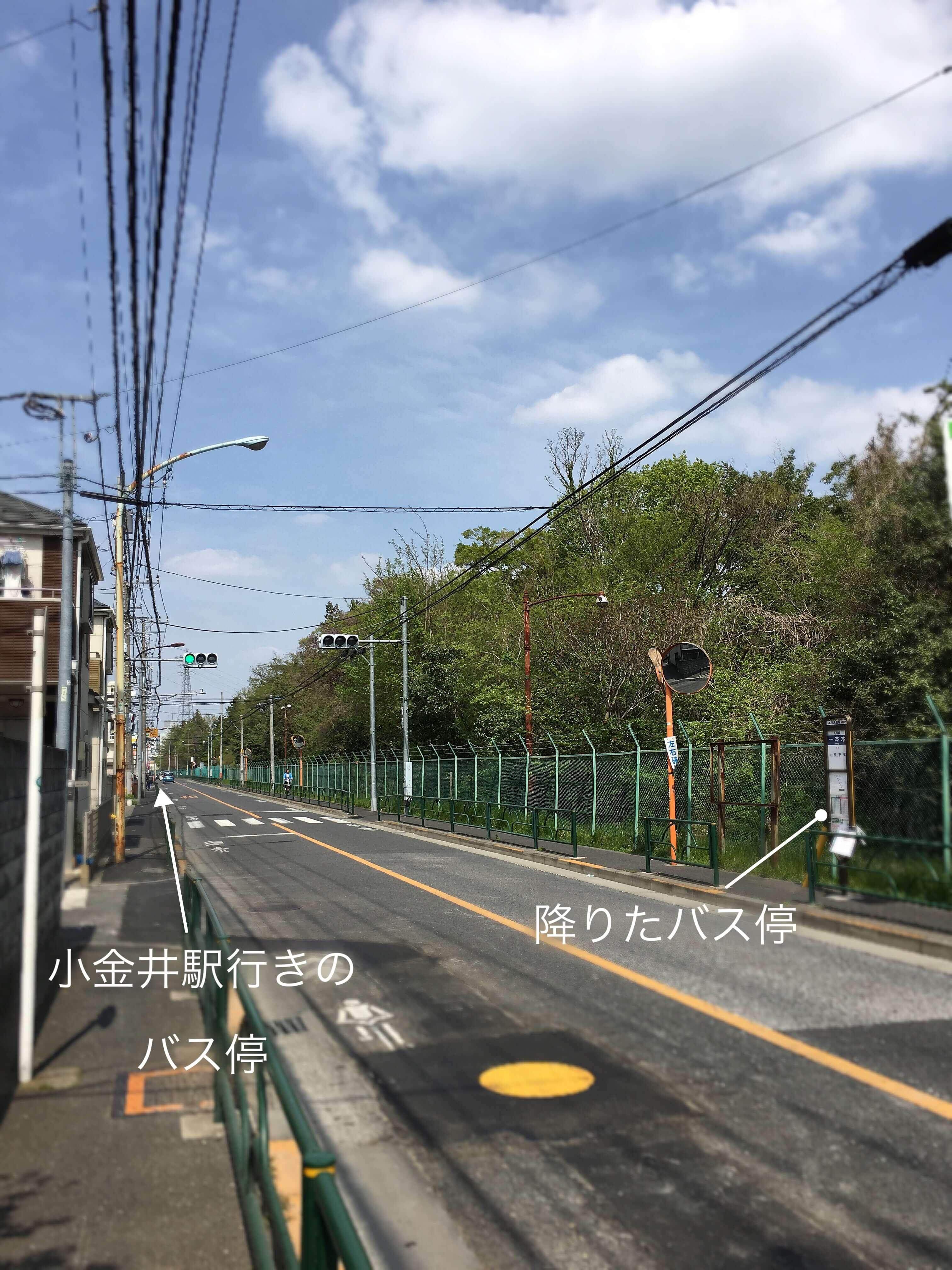 府中市美術館から武蔵小金井駅への帰り方