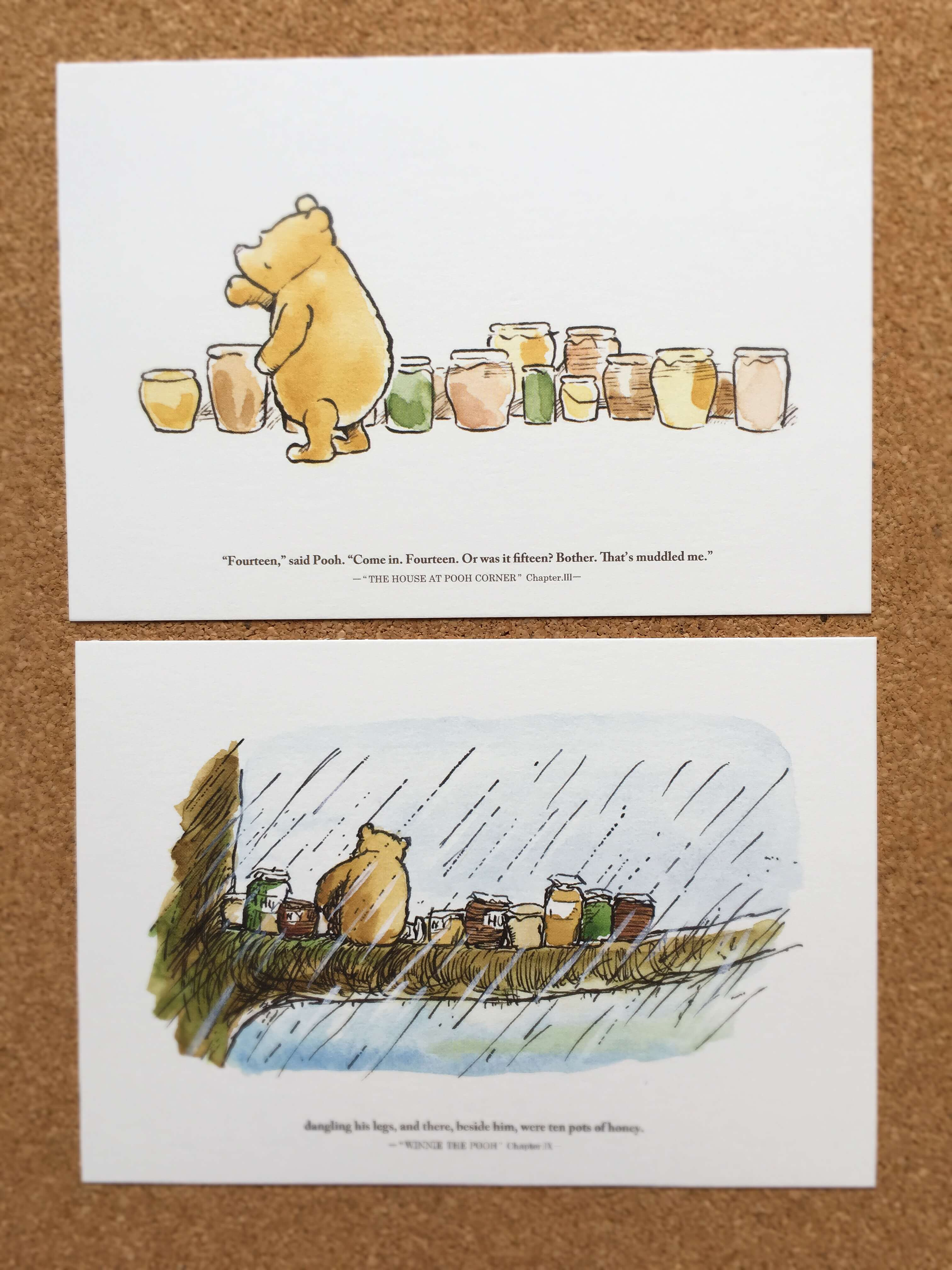 クマのプーさん展の絵はがき