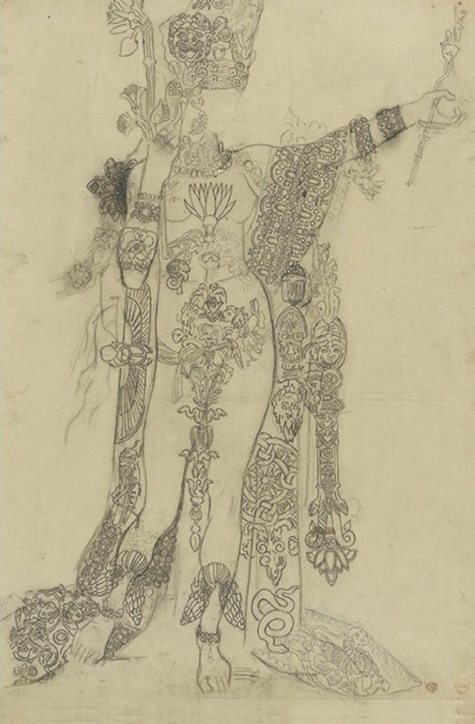 モロー『踊るサロメ、通称入れ墨のサロメのための習作』