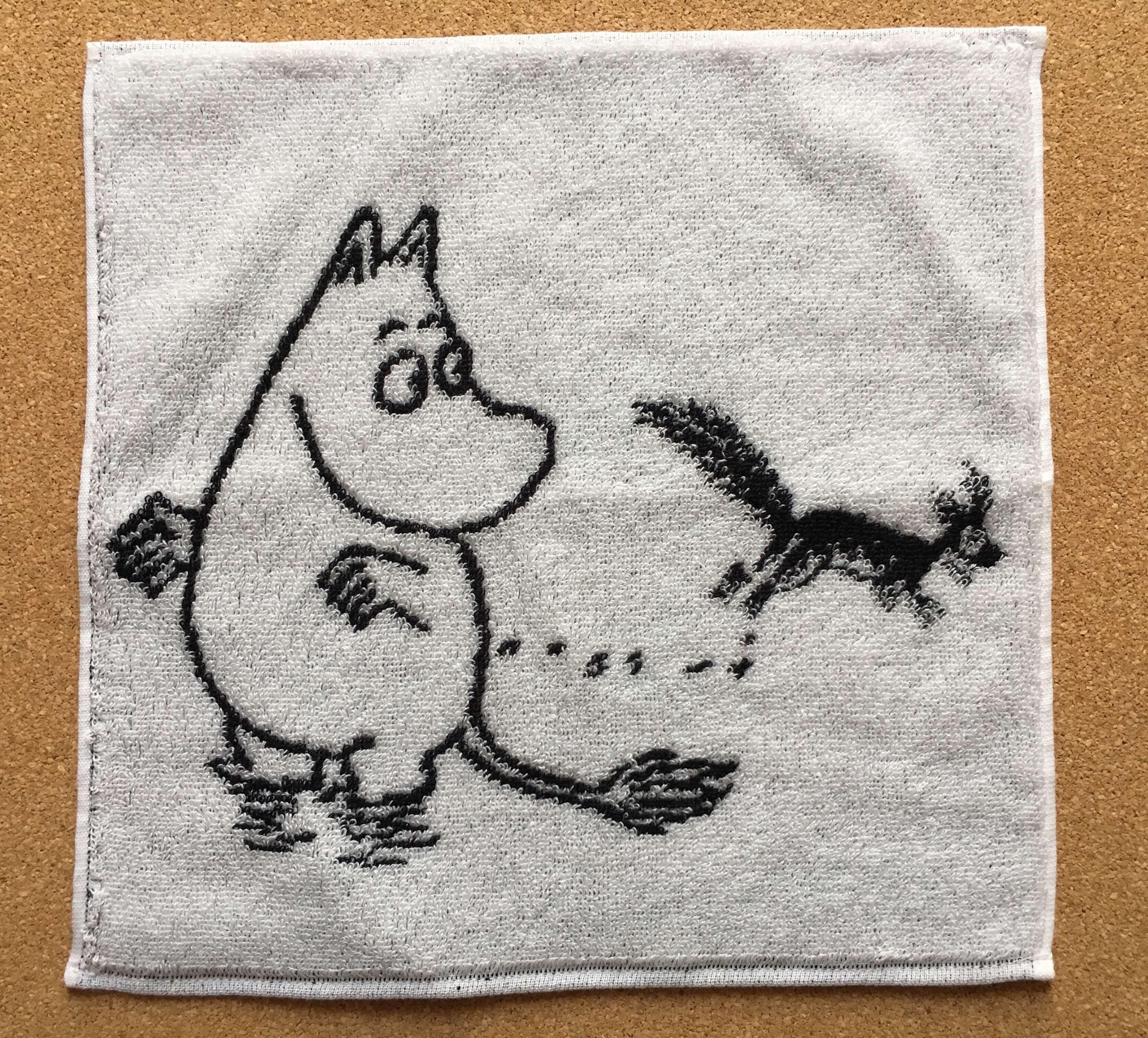 ムーミン展で購入したハンドタオル