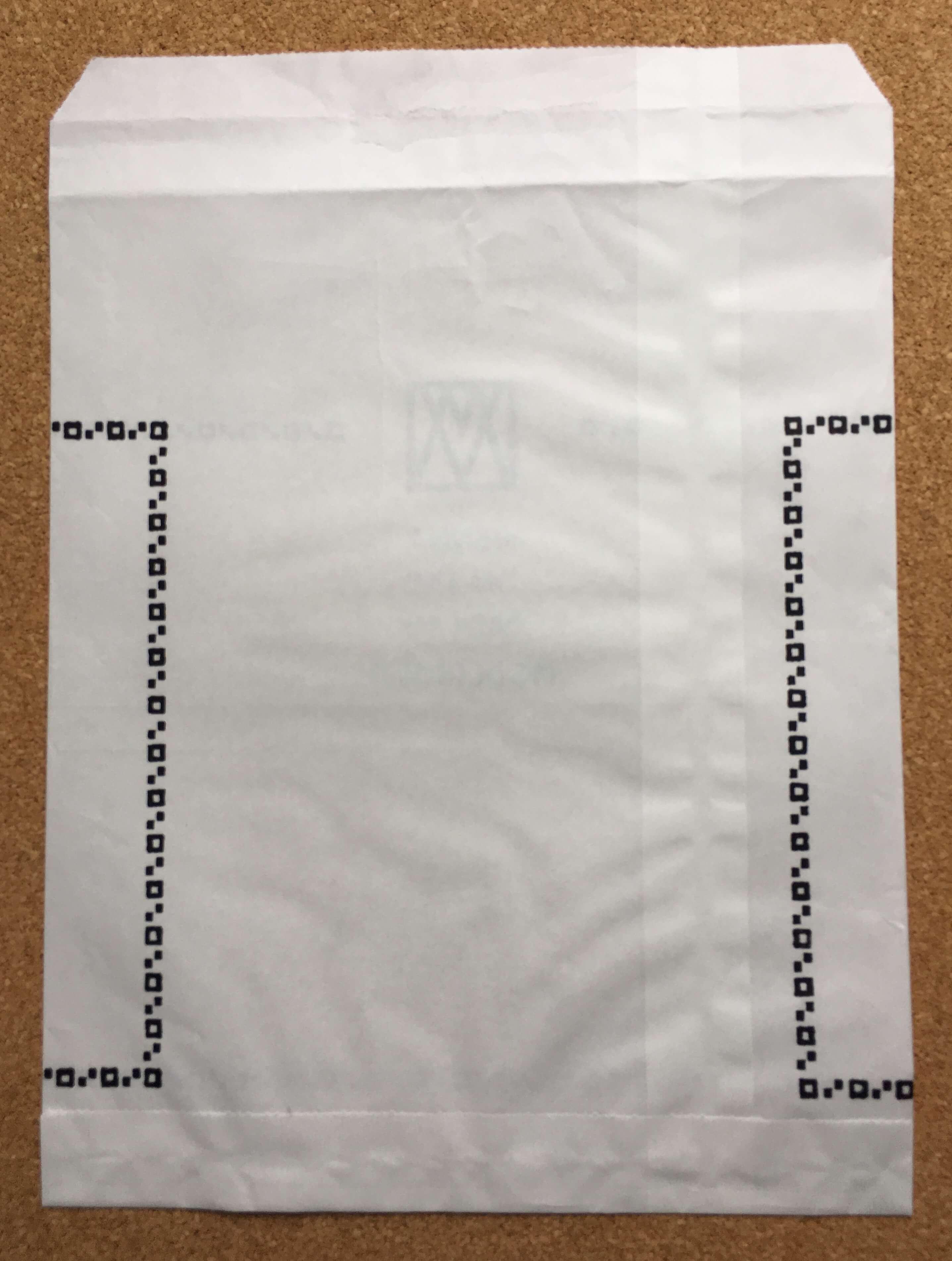 ウィーンモダン展の絵はがきを入れてくれた袋