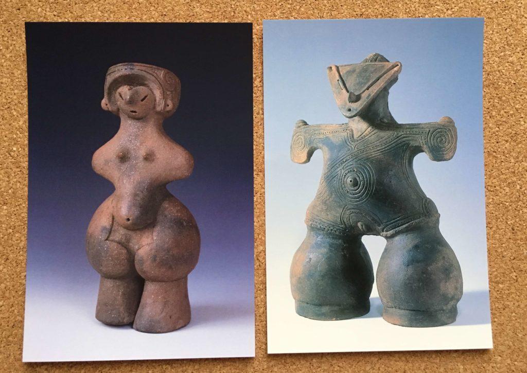 茅野市尖石縄文考古館の絵はがき