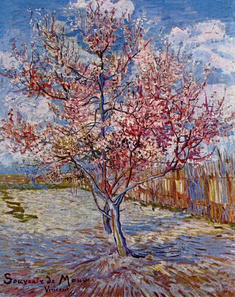 ゴッホ『桃の木』
