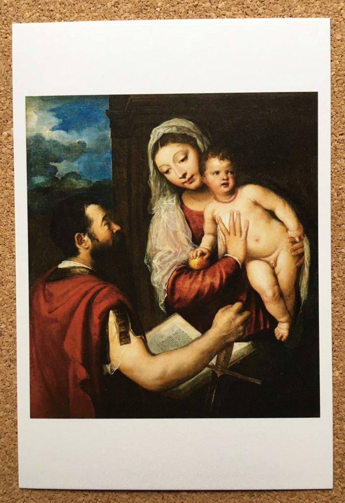 ティツィアーノ『聖母子と聖パウロ』