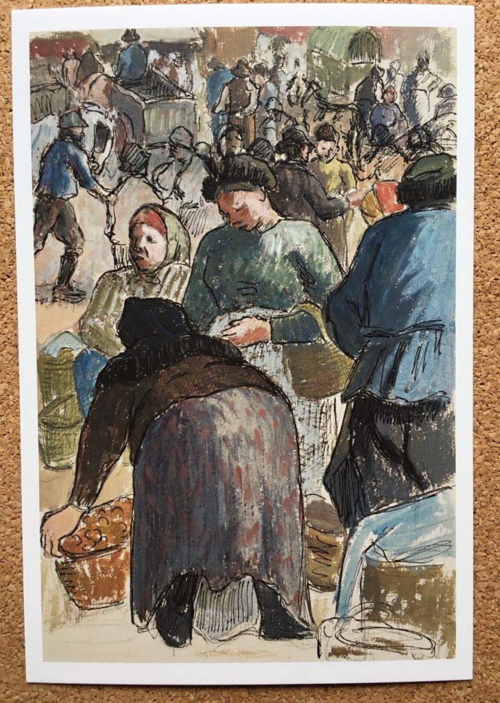 カミーユ・ピサロ『ポントワーズの家禽市場』