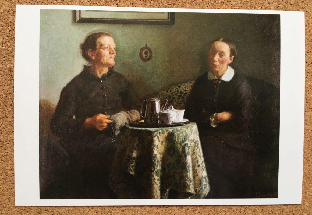 ハマスホイとデンマーク絵画展の絵はがき
